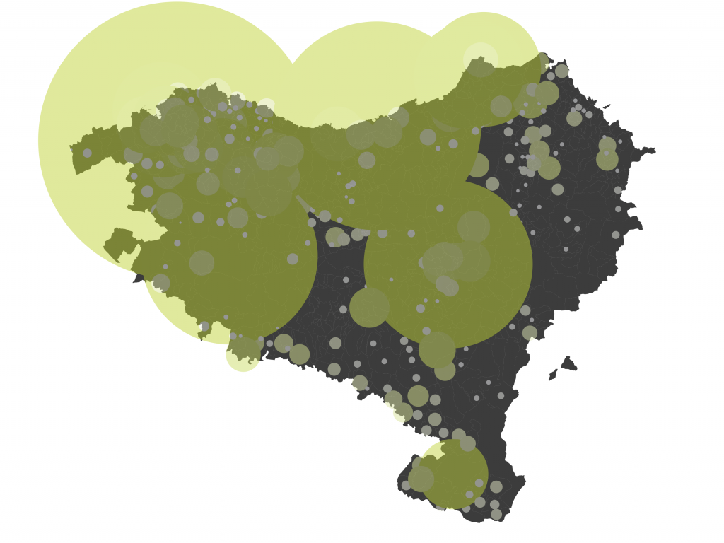 Internet Domain Density in the Basque Country